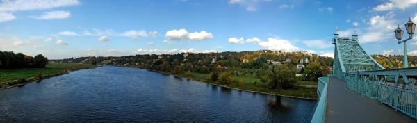 panorama blaues wunder dresden