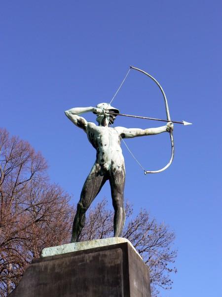 bogenschütze, am, königsufer, in, dresden - 1395409