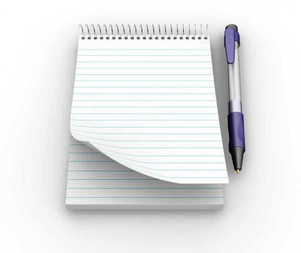 notepad mit stift