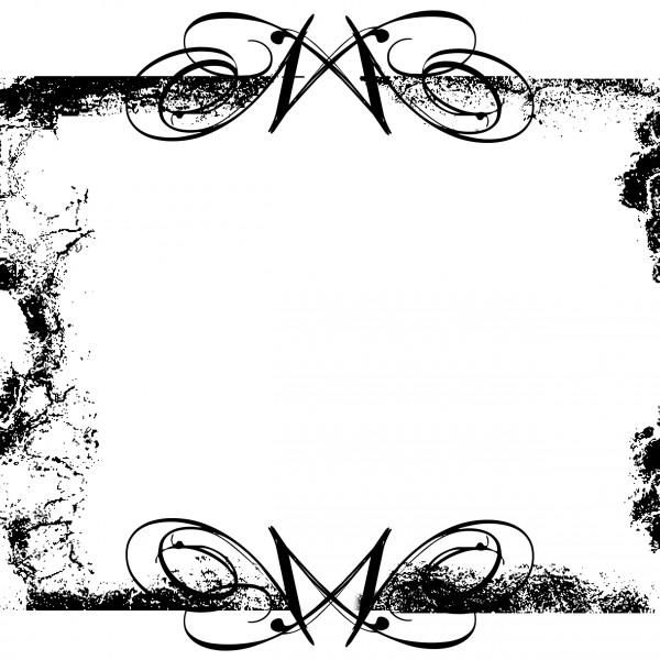 schwarz grunge swirls frame
