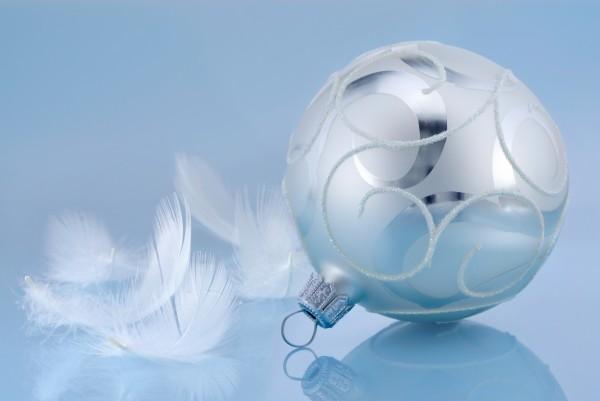 blaue weihnachtsstimmung