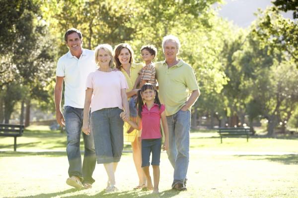 erweiterte konzern portrait der familie weg
