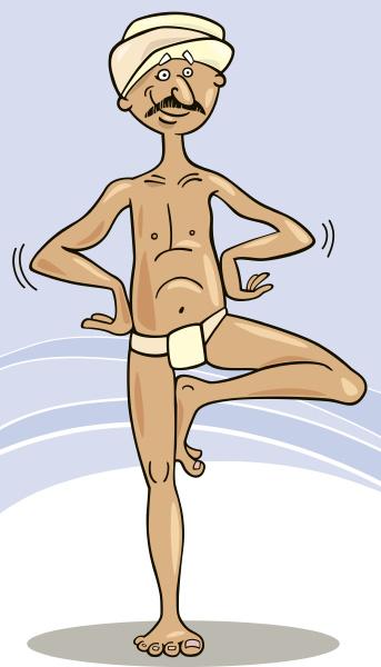 hindu mann praktiziert yoga