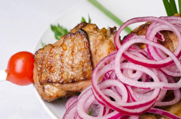 gegrillte kebab fleisch nahaufnahme