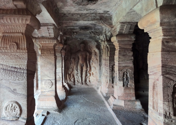 detail of the badami cave temples