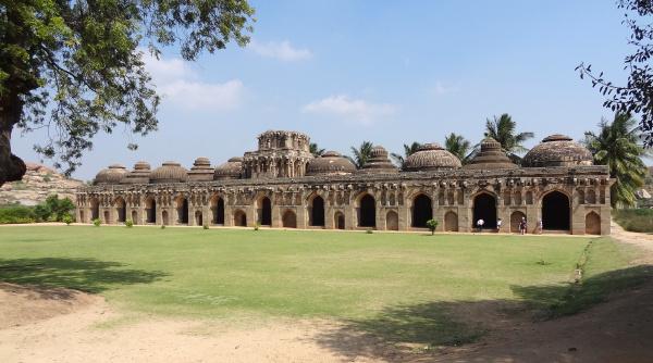 elephant stables at vijayanagara