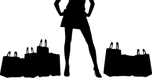frau handtasche einkaufen shoppen shopping silhouette