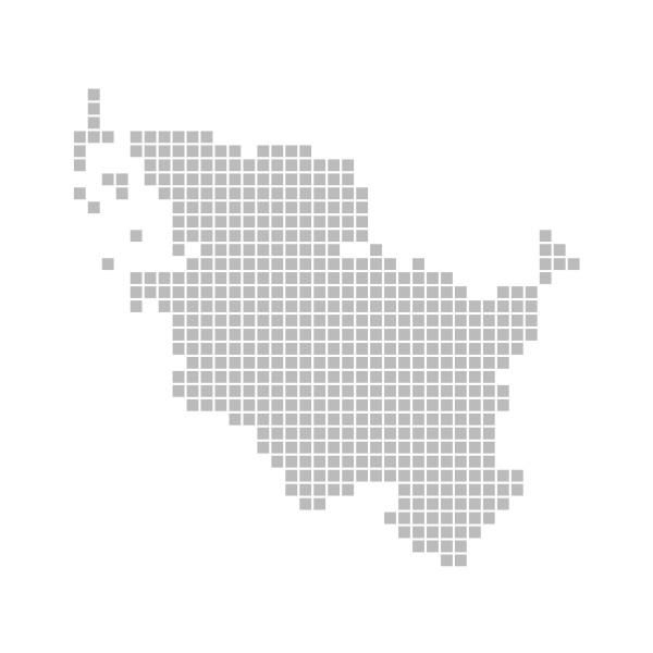 karte aus pixeln schleswig holstein