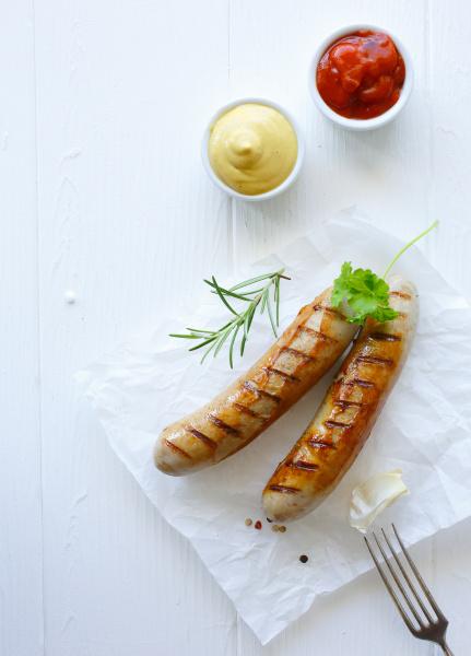 gegrillte bratwurst