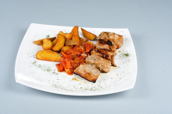 gegrillte kebab fleisch