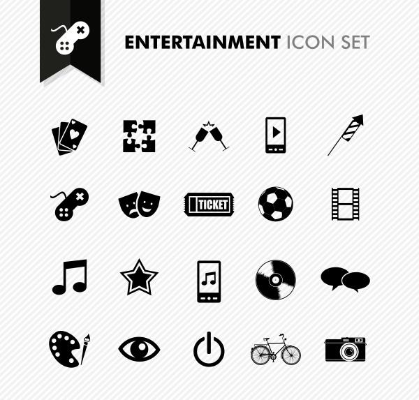 unterhaltung frische icon set