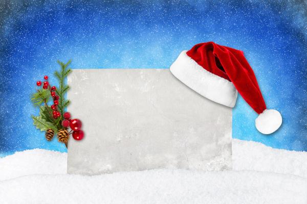 xmas, card, blue, snow - 10410689
