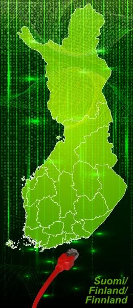 karte von finnland mit grenzen im