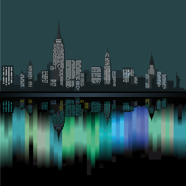 new york city in der nacht