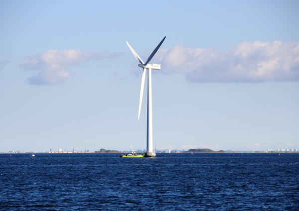 ocean, windmill, in, rough, sea, with - 12886492