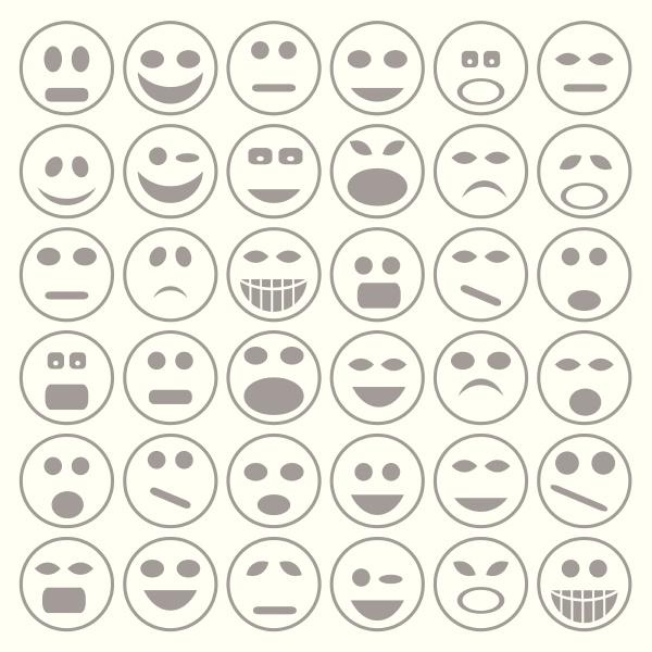 satz von smiley gesichter icons