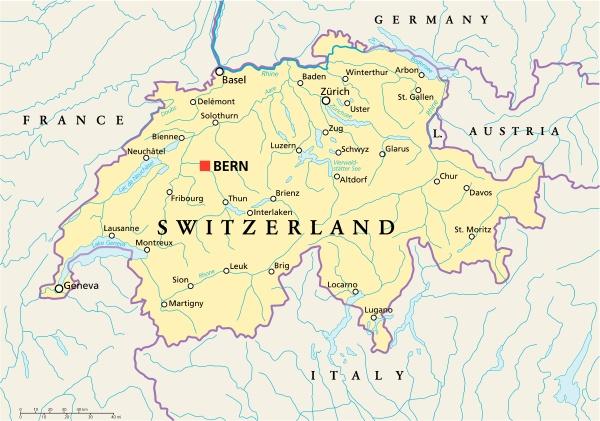 schweiz political map