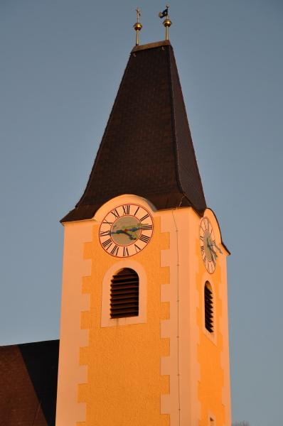 kirche abendstimmung