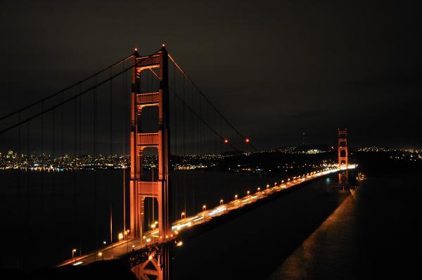 golden gate bridge vor skyline von