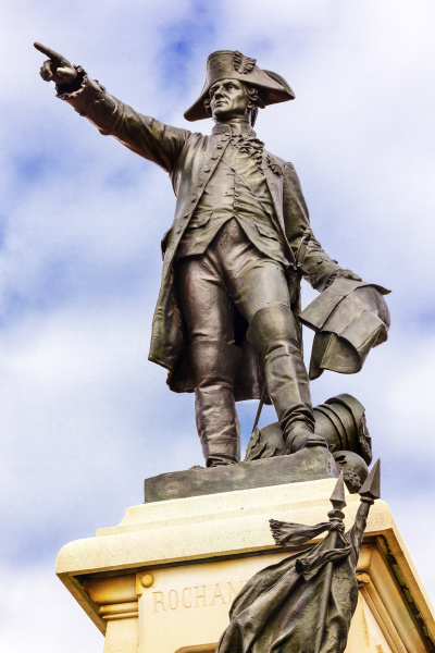allgemein rochambeau statue lafayette park herbst