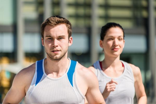 konkurrieren joggen in zwei