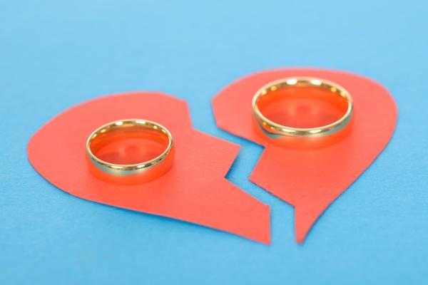 ring mit broken heart
