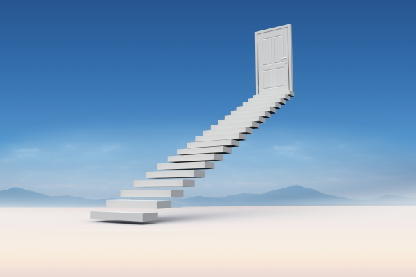 zusammengesetztes bild der treppe die zur