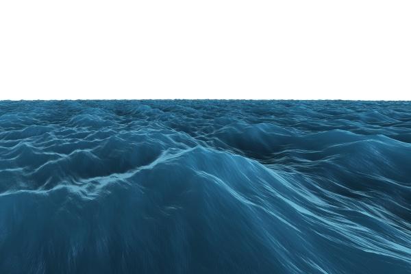 digital generierte grafik rough blue ocean