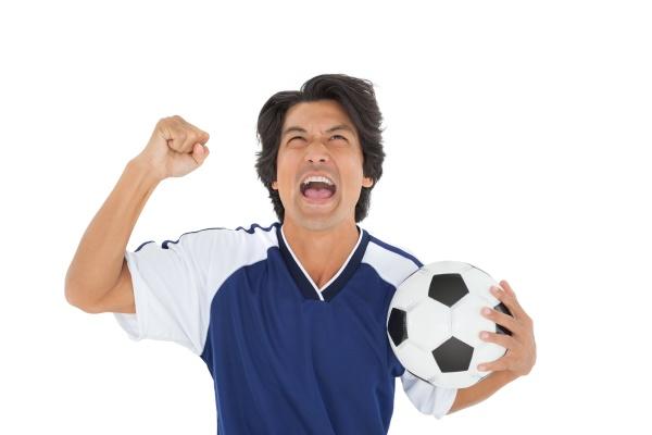 leichtathletik fussballer jubeln