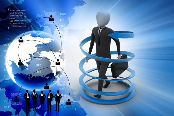 3d man business success konzept