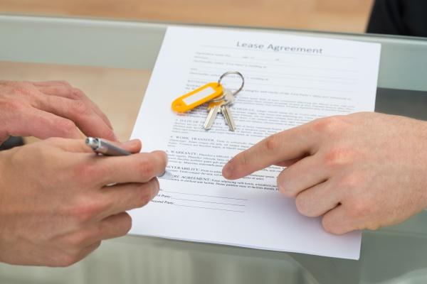 unterzeichneten mietvertrag