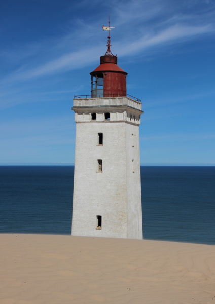 lighthouse, with, sand, dune, and, blue - 15719174