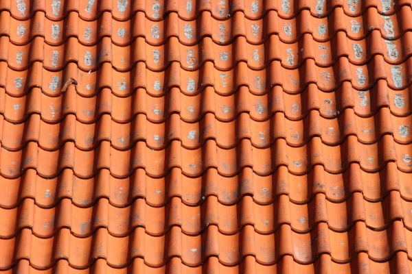 red, clay, tile, roof, on, old - 15719102