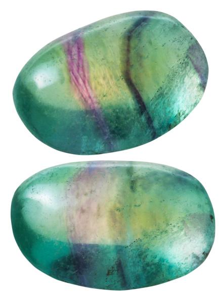 zwei gruene fluorit flussspat edelsteine