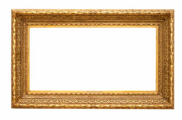 rectangle dekorativen goldenen bilderrahmen
