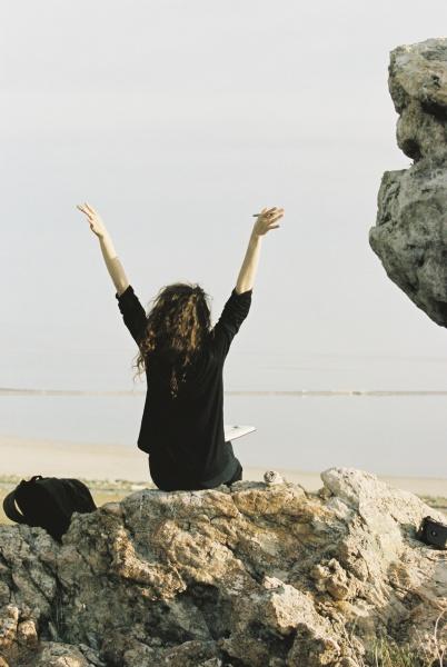 frau frauen fahrt reisen weiblich neugier