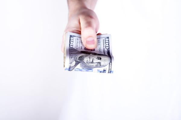 bankkredit oder bargeld konzept