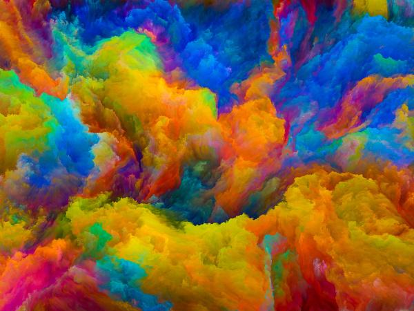 beschleunigung der farben