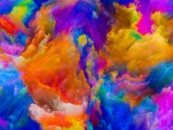 virtuelles leben der farben