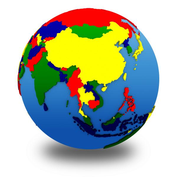 freisteller abgeschieden isolierte globus planet erde