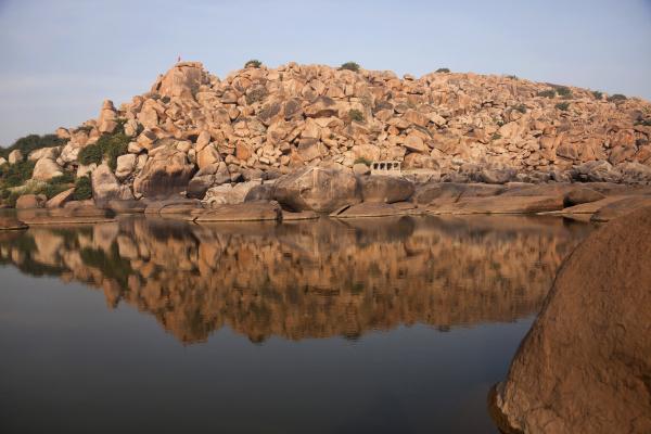 fahrt reisen farbe gewaesser stein indien