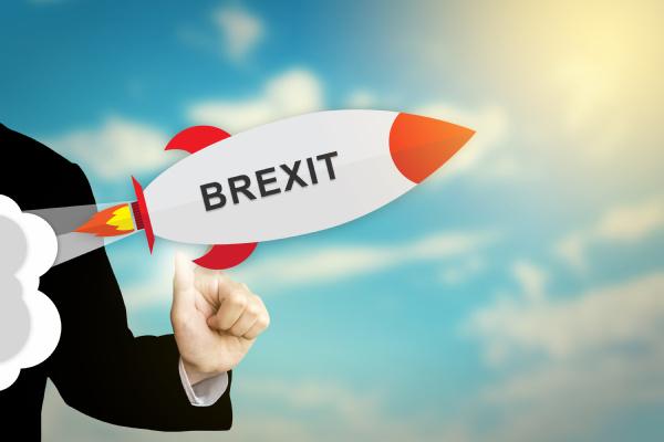 business hand klick brexit oder britische