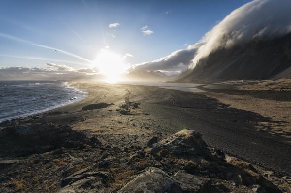 landschaft in der region stokknes island