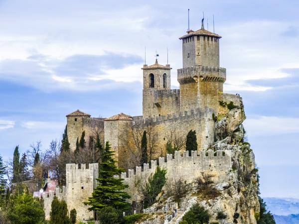 castle of san marino on the