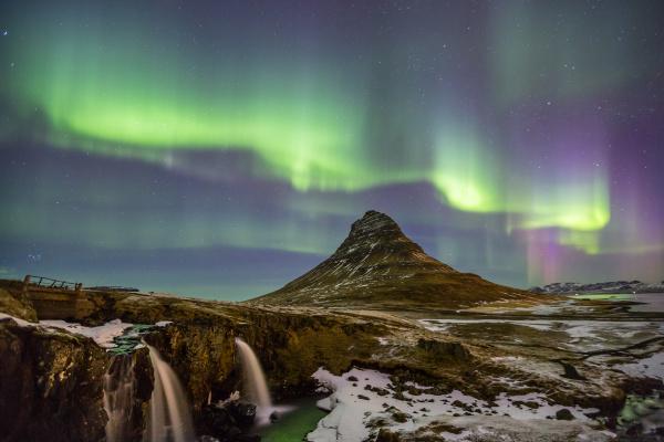 sonnenlicht island gelassen tundra aurora schnee