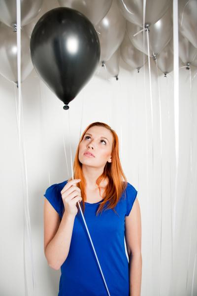 frau blau weiblich party feier fest