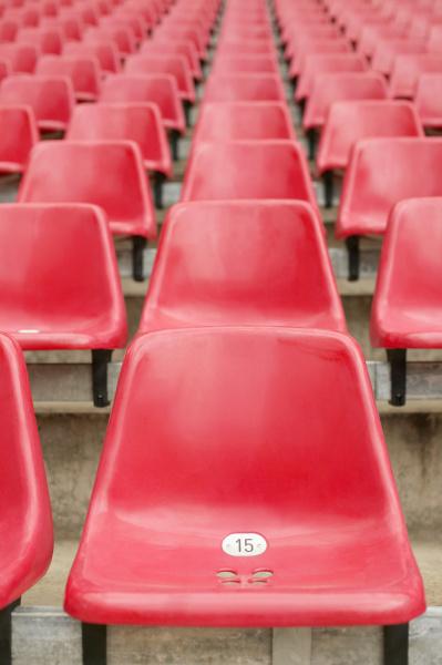 rote stadionsitze