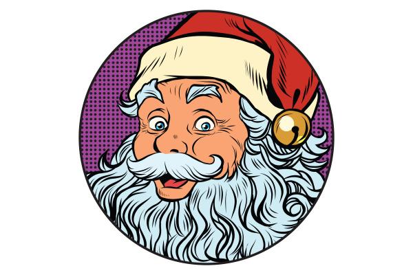 weihnachtsmann portraet in der runde