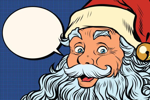 weihnachtsmann erzaehlt comic blase