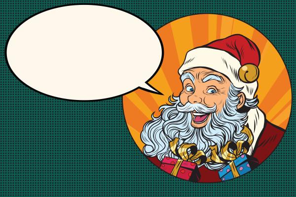 frohe weihnachtsmann sagt